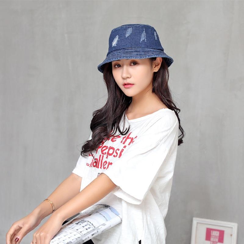 Fishermans Hat Girl Korean Chaoyuanju Art And Sun Shade Hat Male Autumn And