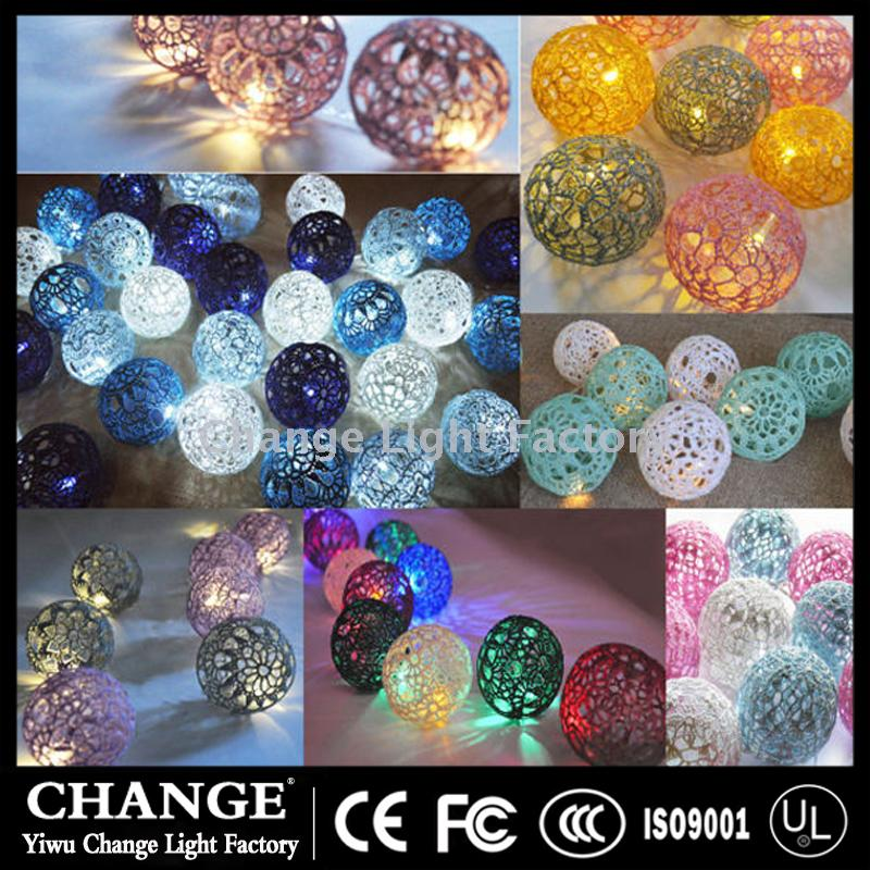 Supply Handicrafts Diy Lace Ball Lantern Series Led Christmas
