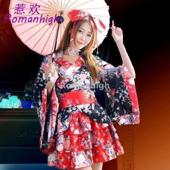 极乐净土日系动漫和服重?;╟os和服 洛丽塔舞蹈服 演出服