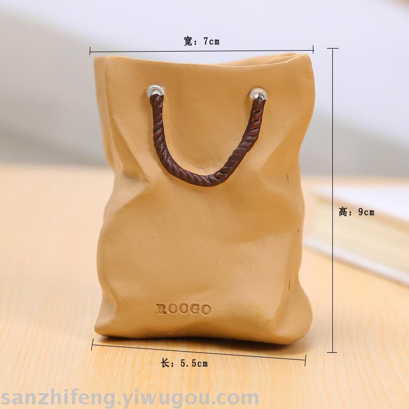 Supply Imitation shopping paper bag flower pot decoration gifts-