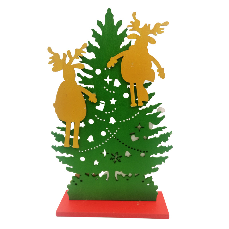 diy desktop office furnishings christmas decorations wooden gifts to assemble a single piece of christmas tree - Office Supply Christmas Decorations