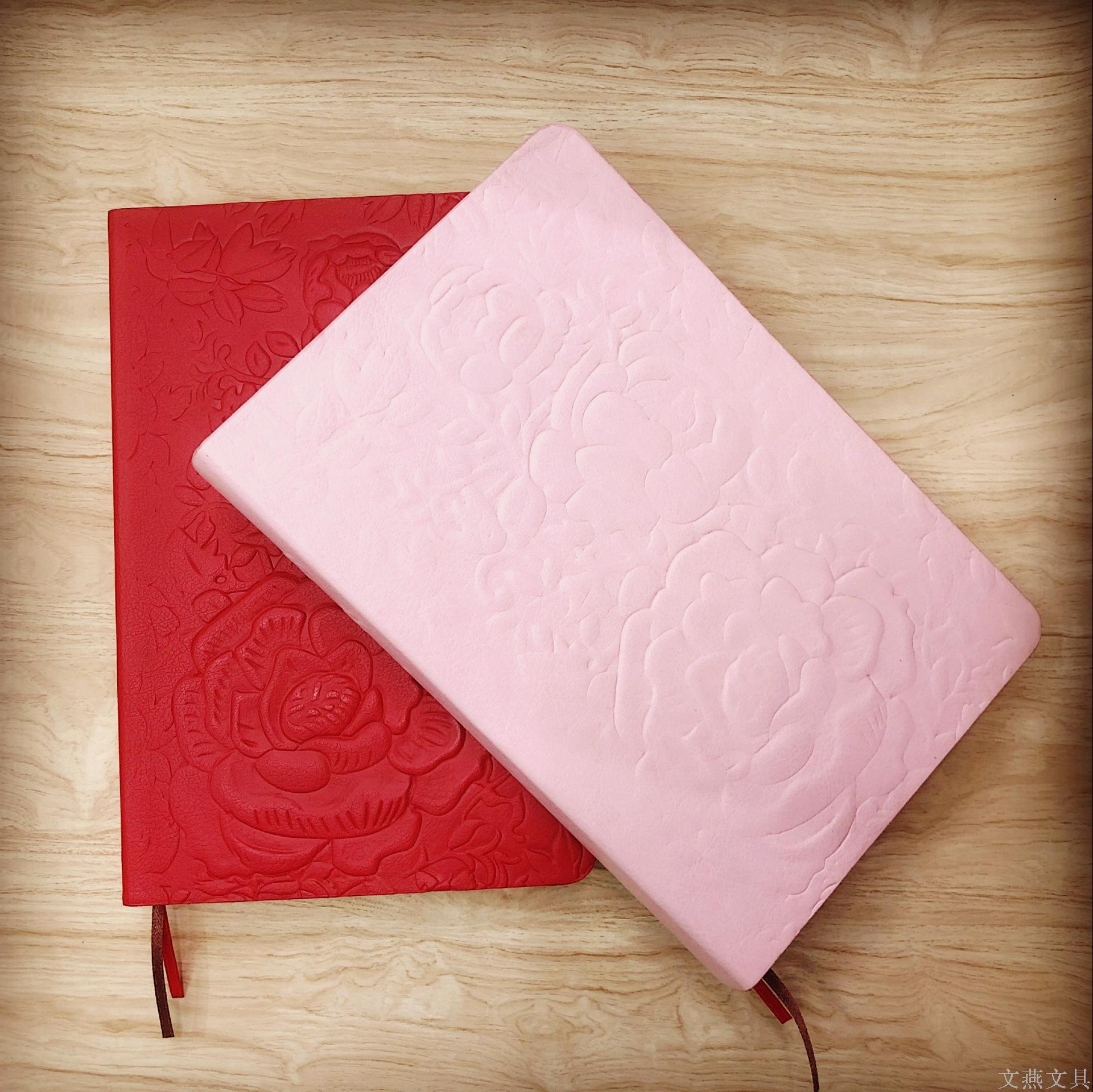 Supply Wen Yan Stationery Creative Embossed Notebook Red Flower