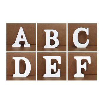 木质英文字母数字摆件批发 木制工艺品 diy字母创意装饰