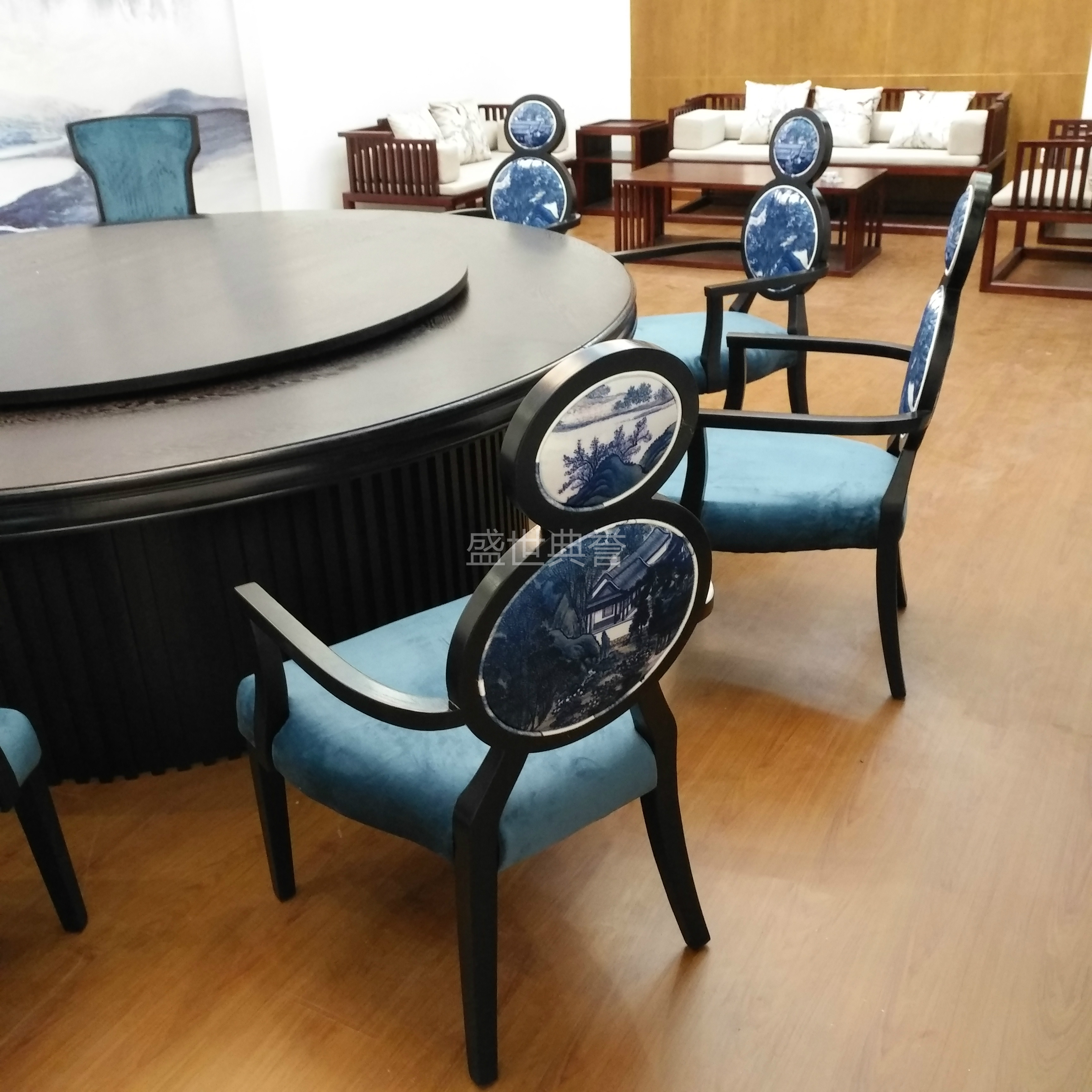 Clubhouse Huipai Zen Dining Chair New Chinese Style Solid Wood Furniture Room Chairs