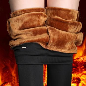 加絨加厚秋冬新款季褲子女外穿高腰韓版胖mm大碼小腳鉛筆打底褲
