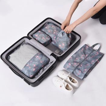 旅行衣物收纳袋包防水整理袋衣服内衣包行李箱五件套