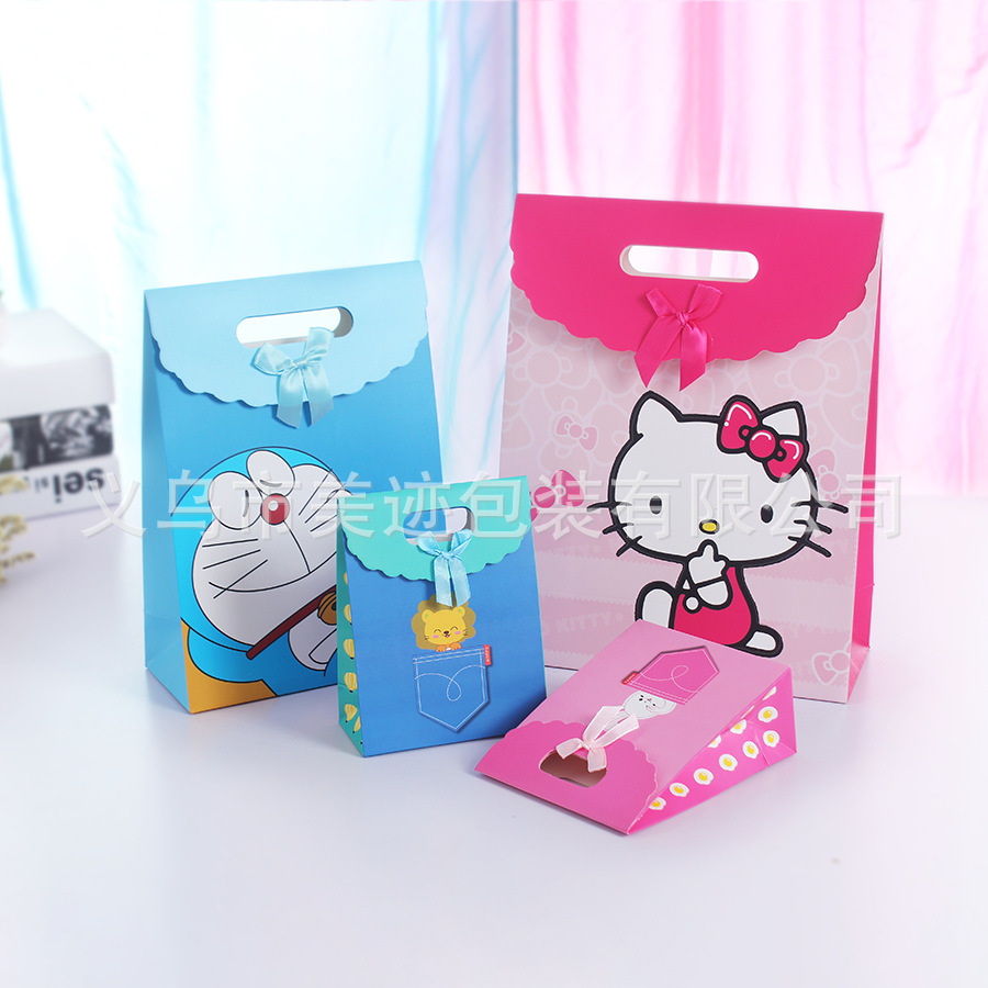 Supply Small Christmas gift bag pocket paper bag bag new cartoon ...