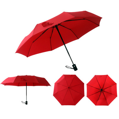 Umbrella manufacturer direct sales gift fully automatic umbrella advertising umbrella custom printed logo text