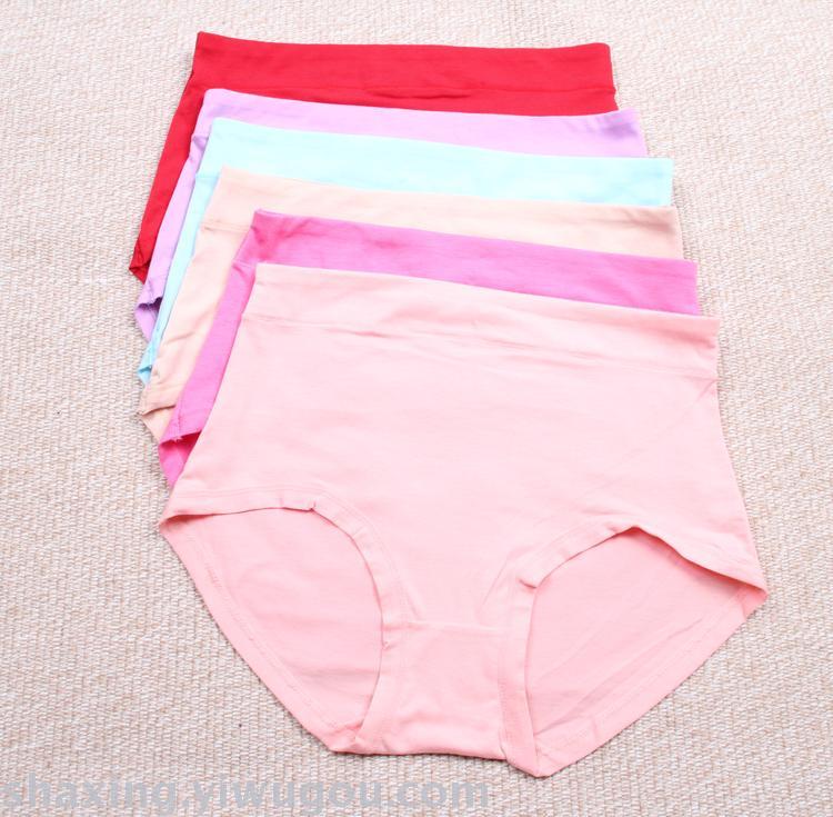 06bb249ee6f Supply Pure color cotton high-waisted women s underwear 100% cotton large  women s briefs women s briefs-