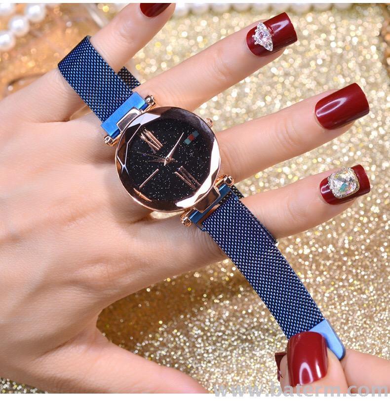 Hot style fashion star magnet clasp women decorated web celebrity watch temperament women watch