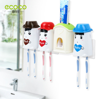 [three] love の cabin automatically toothpaste of wash gargle suit dustproof gargle innovative toothbrush rack