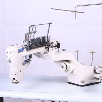 二手四针六线曲臂拼缝瑜伽运动套装进口绷缝机星菱四针六线