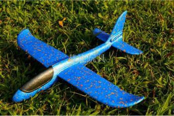 新奇玩具 批发37CM小号EPP泡沫手抛飞机 手掷滑翔机 热销玩具