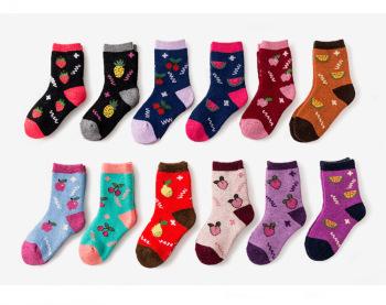 秋冬毛巾毛圈兒童水果中筒襪子加厚保暖襪兔毛襪羊毛兒童襪子