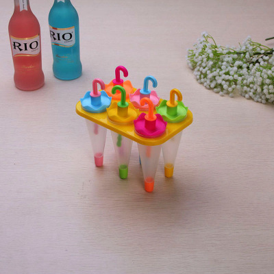 Umbrellas Six groups of umbrellas rabbit fruit umbrella head fruit Popsicle mold creative DIY ice cream ice cream mold rs-7352