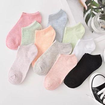 爆款彩棉襪子 糖果色女士純棉襪 隱形淺口短襪 船襪批發諸暨襪
