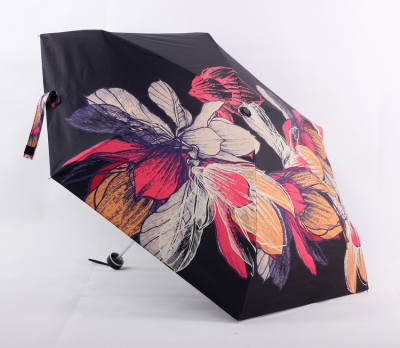 Spot flower wealth vinyl full shading digital print windproof ultra light 50%  sunshade umbrella sun protection