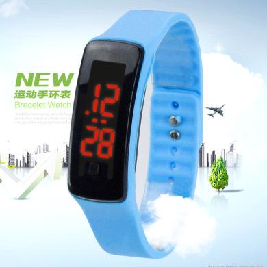 礼品赠品二代LED电子表儿童学生运动手环硅胶表定制促销厂家特价