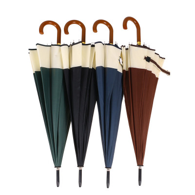 16 Bone Long handle umbrella with Im Automatic windshield umbrella for men with straight handle business umbrella advertising umbrella and gift umbrella