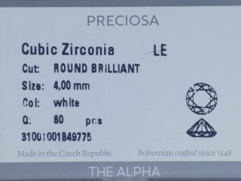 捷克鉆寶仕奧莎高端品質 阿爾法切割帶鐳標鋯石 正版授權原裝正品