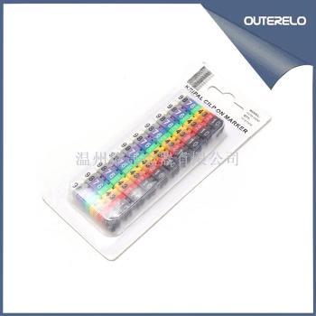 数字号码管线号管网线标签套管电线数字记号管数字0-9字母A-Z