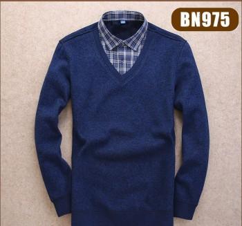 BN9V领系列男式长袖保暖衬衫复合保暖衬衫真超男假两件保暖衬衫