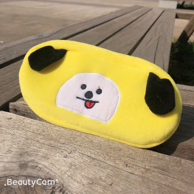 Plush pen bag cartoon pen bag student pen bag embroidered pen bag BTS pen bag