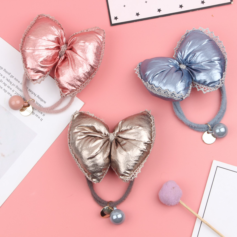 South Chesapeake new autumn and winter hair rope plush female east feel web celebrity hair bow hair tie express it in the rope