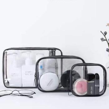 厂家直销塑料包装袋透明pvc拉链袋洗漱化妆包防水收纳袋定制logo