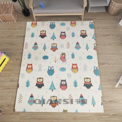 Qiansai baby crawl mat folding thickened living room XPE foam floor mat baby whole child crawl mat