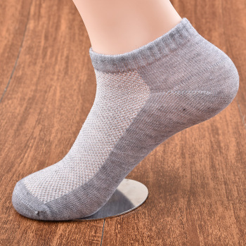 孔渠春夏网眼棉袜涤棉 男士隐形船袜 纯色男袜 短筒袜子批发现货