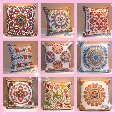 Cotton towel embroidered pillow pillow pillowcase bedding daily articles household articles as for leaning on as cover
