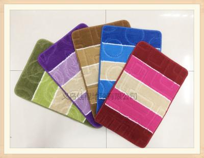 New TPR velveteen pp floor mat for door mat for foot mat for door mat jacquard non-slip mat for velveteenfor home use