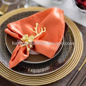 盤子新款工藝盤時尚復古裝飾盤歐式餐墊盤婚宴擺盤