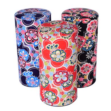 日本进口工艺品茶罐 ,繁花系列200g
