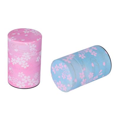 日本进口工艺品茶叶罐,樱花飞舞系列100g