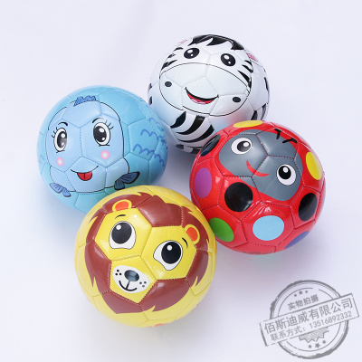 New children's soccer baby children puzzle cartoon animal pattern practice toy ball environmental protection