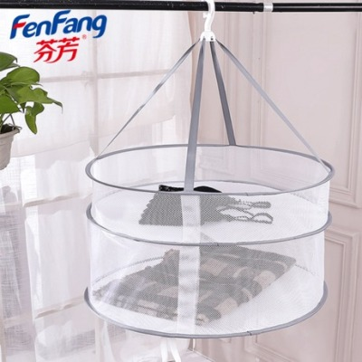 Clothes airing net clothes drying basket clothes airing net cloth flat net pocket household cool socks artifact