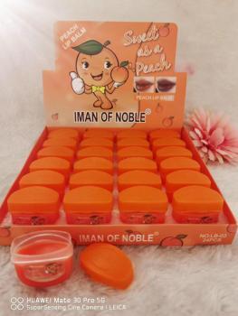 IMAN OF NOBLE品牌跨境爆款滋润唇膏桃子香味味24小时滋养不干皮
