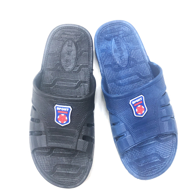 Foreign Trade Summer PVC Blowing Sport Plastic Drop Home Outdoor Non-Slip Bath Men's Slippers in Stock Support Customization