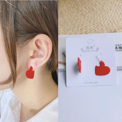 New Love Flower Side Earrings, Earrings, silver Linen-Proof color, Fresh fashion hot style wholesale