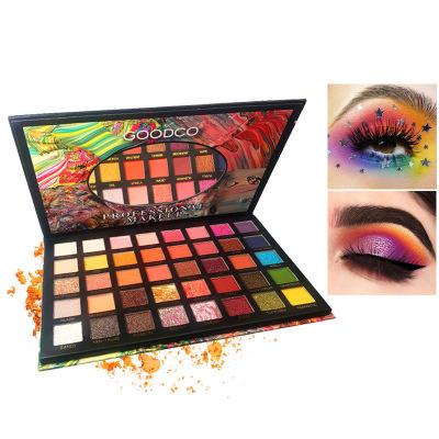 40 color glitter eye shadow tray girls party eye shadow pearl matt fine flash novice versatile makeup wholesale