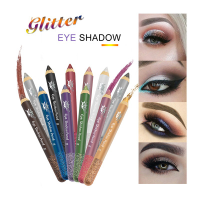 GLAZZI 12 color pearl eyeshadow pencil eyeshadow stick Glitter eyeshadow pencil waterproof manufacturers direct supply