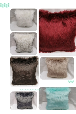 Imitation Wool Pillow Pillowcase Cushion Cushion Cover Sofa Backrest Automotive Waist Cushion Bedding for Daily Use