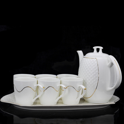 Guotong ceramic 2017 new clove ceramic water with coffee set