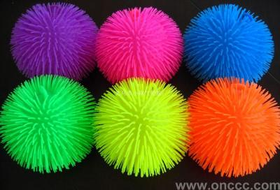 Flash maomao ball luminous toys TPR soft plastic toys yiwu manufacturers direct new toys