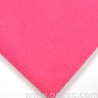 Pink fleece fabric