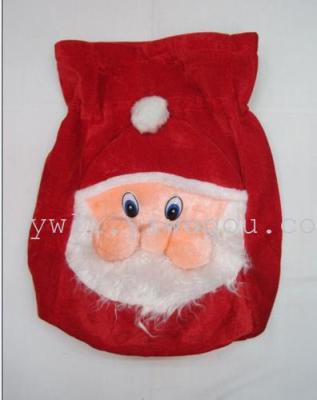 Upscale Santa gifts flannel gift bag Christmas cartoon the old man face a Christmas gift bag