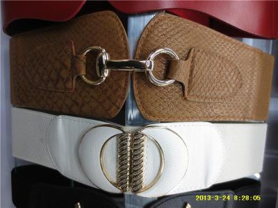 Alloy to buckle lady's casual elastic belt