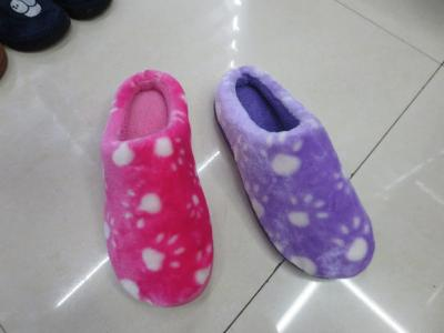 Warm and stylish plush slippers for home use